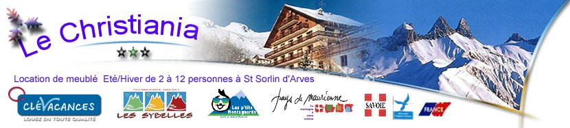Location Saint Sorlin d'Arves Location Chalet Studio Appartement au Chalet Christiania